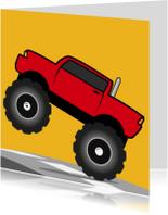 Kinderkaarten - Verjaardag Monster Truck Auto jongen 67