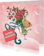 Verjaardag muis met bloemen-IH