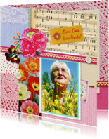 Verjaardag Oma bonte collage