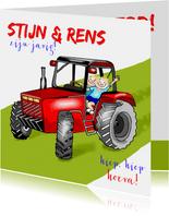 Verjaardag op de tractor