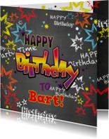 Verjaardag stoere felicitatie in graffiti stijl