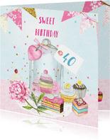 Verjaardag stolp taartjes