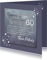 Verjaardag toppers uit 1960