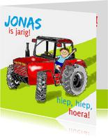 Verjaardag tractorjongetje