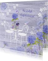 verjaardag tuinset hortensia