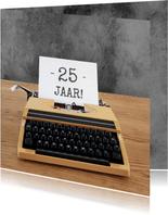 Verjaardag -Typemachine leeftijd