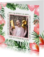Verjaardag/uitnodigingkaart Tropical - WW
