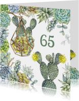 Verjaardag vetplant cactus groen