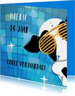 Verjaardagskaarten - Verjaardag vette party kaart