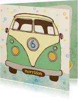 Verjaardag Vintage busje Mint