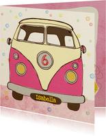 Verjaardag Vintage busje Pink
