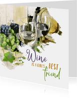 Verjaardag wine is a girl's best friend
