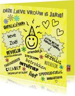 Verjaardag yellow sunshine IW