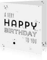 Verjaardagkaart a very happy