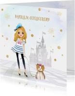 Verjaardagskaarten - Verjaardagkaart sprookjes - meisje