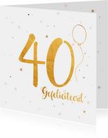 Verjaardagskaart 40 jaar