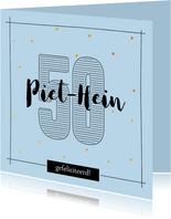 Verjaardagskaart 50 jaar - met naam