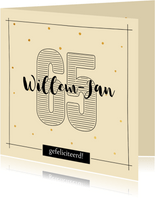 Verjaardagskaart 65 jaar - met naam