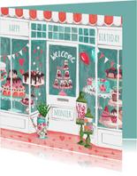 Verjaardagskaart Banketbakker Illustratie