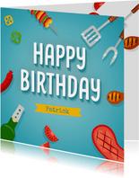 Verjaardagskaart bbq
