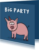 Verjaardagskaart Big Party!!!