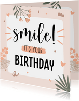 Verjaardagskaart birthday smile