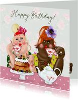 Verjaardagskaart Birthday tea time
