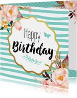 Verjaardagskaart Bloemen 99