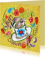 Verjaardagskaart Bloemen Lente