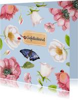 Verjaardagskaart Bloemenpracht in frisse kleuren