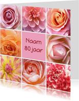 Verjaardagskaart bloemenpracht