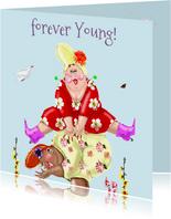 Verjaardagskaart Bokje over springen