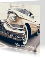 Verjaardagskaart Cadillac retro