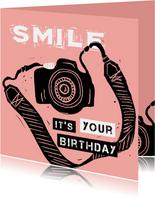 Verjaardagskaart camera