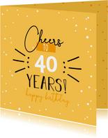 verjaardagskaart - Cheers to .. years