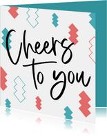 Verjaardagskaart cheers to you confetti foto