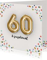 Verjaardagskaart Confetti-60