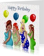 Verjaardagskaart confetti feest
