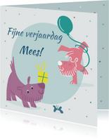 Verjaardagskaart dogparty - IR