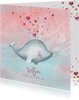 Verjaardagskaart dolfijne verjaardag
