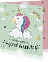 Verjaardagskaart Eenhoorn