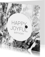 Verjaardagskaart engels marmer