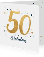Verjaardagskaart fabulous fifty