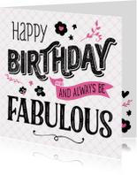 Verjaardagskaart Fabulous