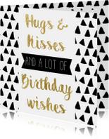 Verjaardagskaart Feestelijk goud