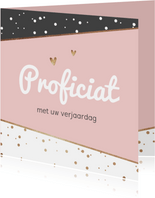 Verjaardagskaart felicitatie confetti goud stijlvol foto