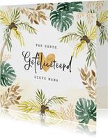 Verjaardagskaart felicitatie jungle palmbomen botanisch