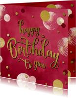 Verjaardagskaart felicitatie wenskaart confetti vrouw