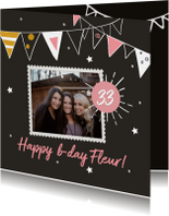 Verjaardagskaart foto slinger