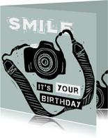 Verjaardagskaart fototoestel